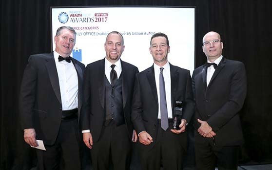 Aspiriant accepts award for Best Multi Family Office